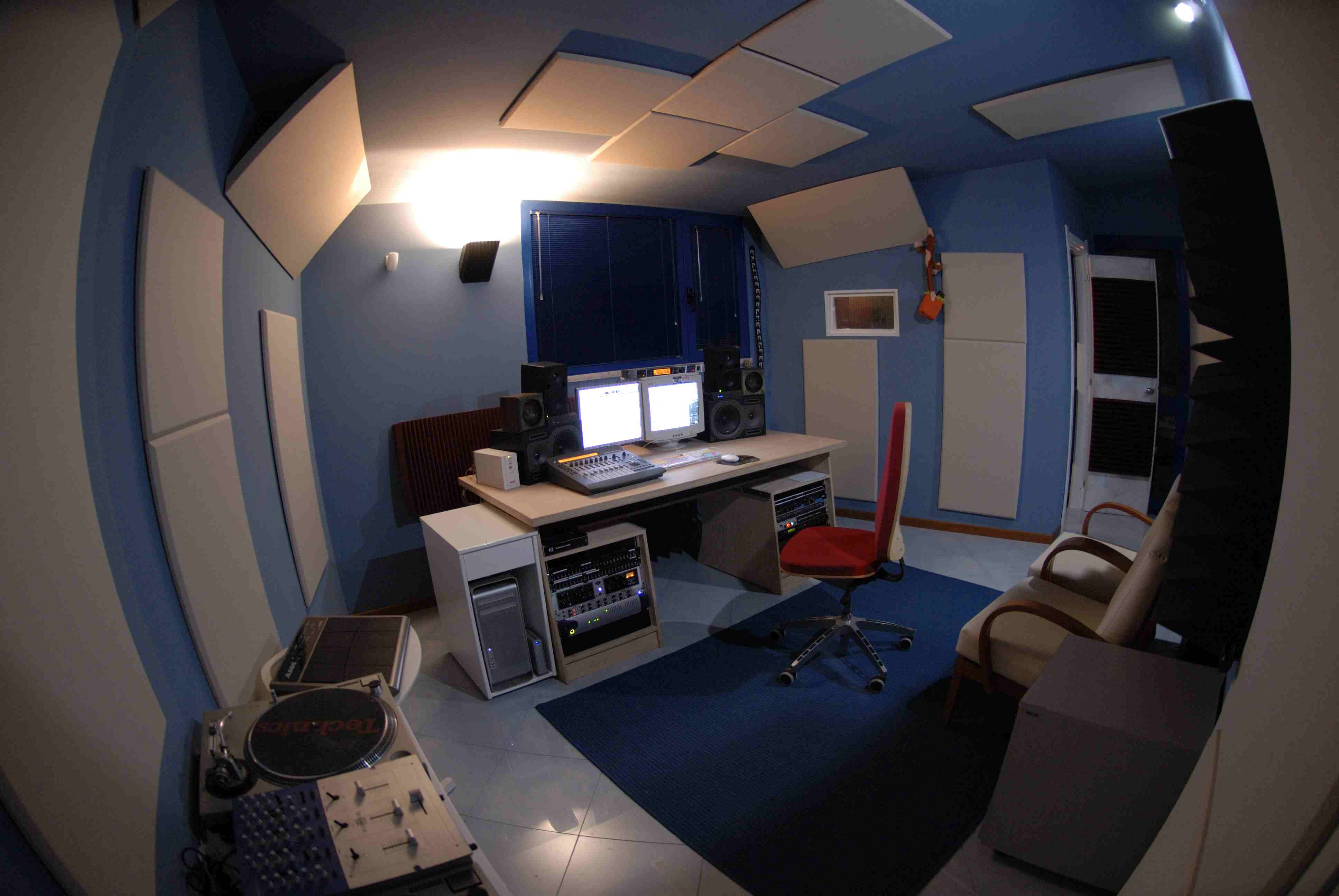 trattamento acustico control room sushistudio6