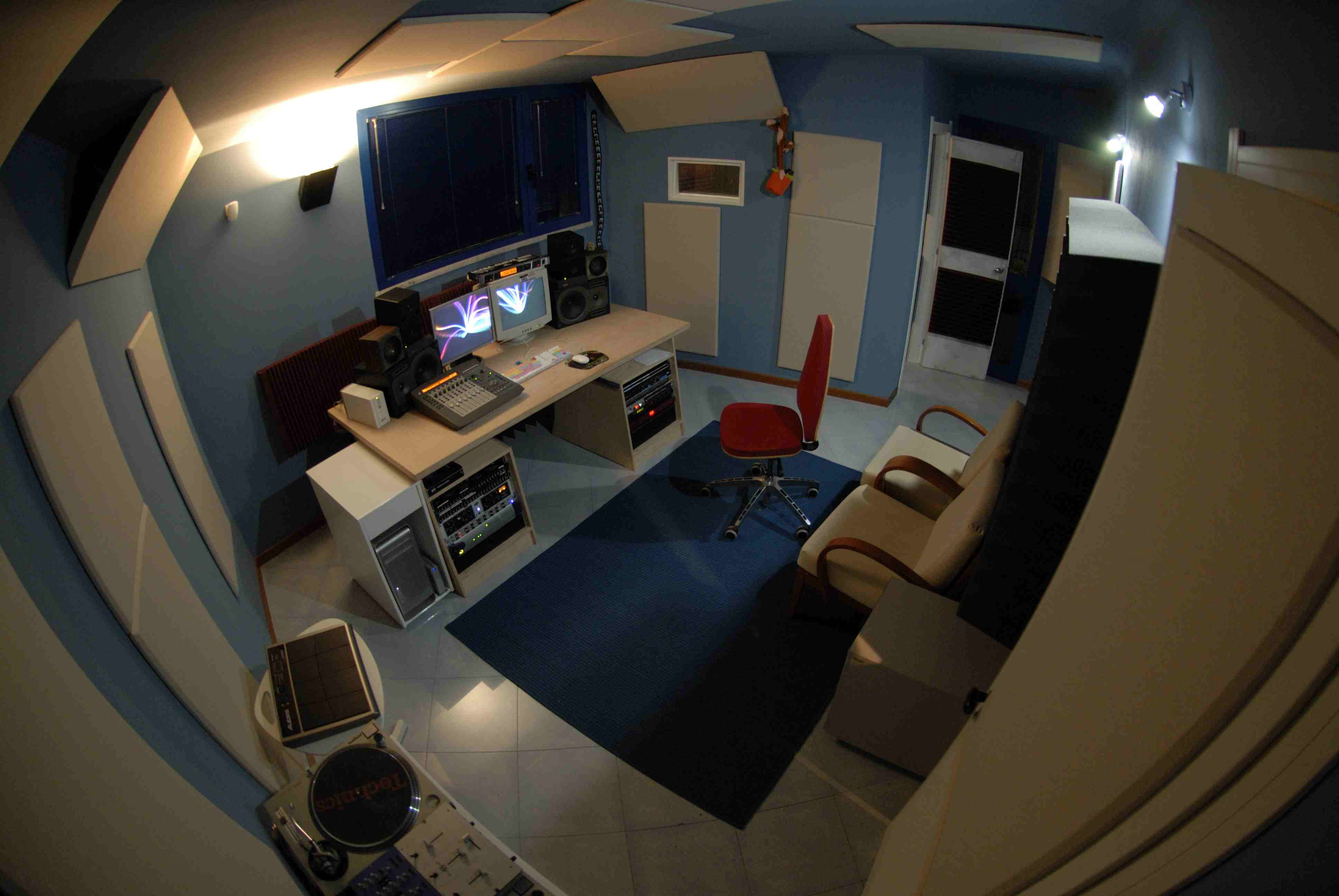 trattamento acustico control room sushistudio7