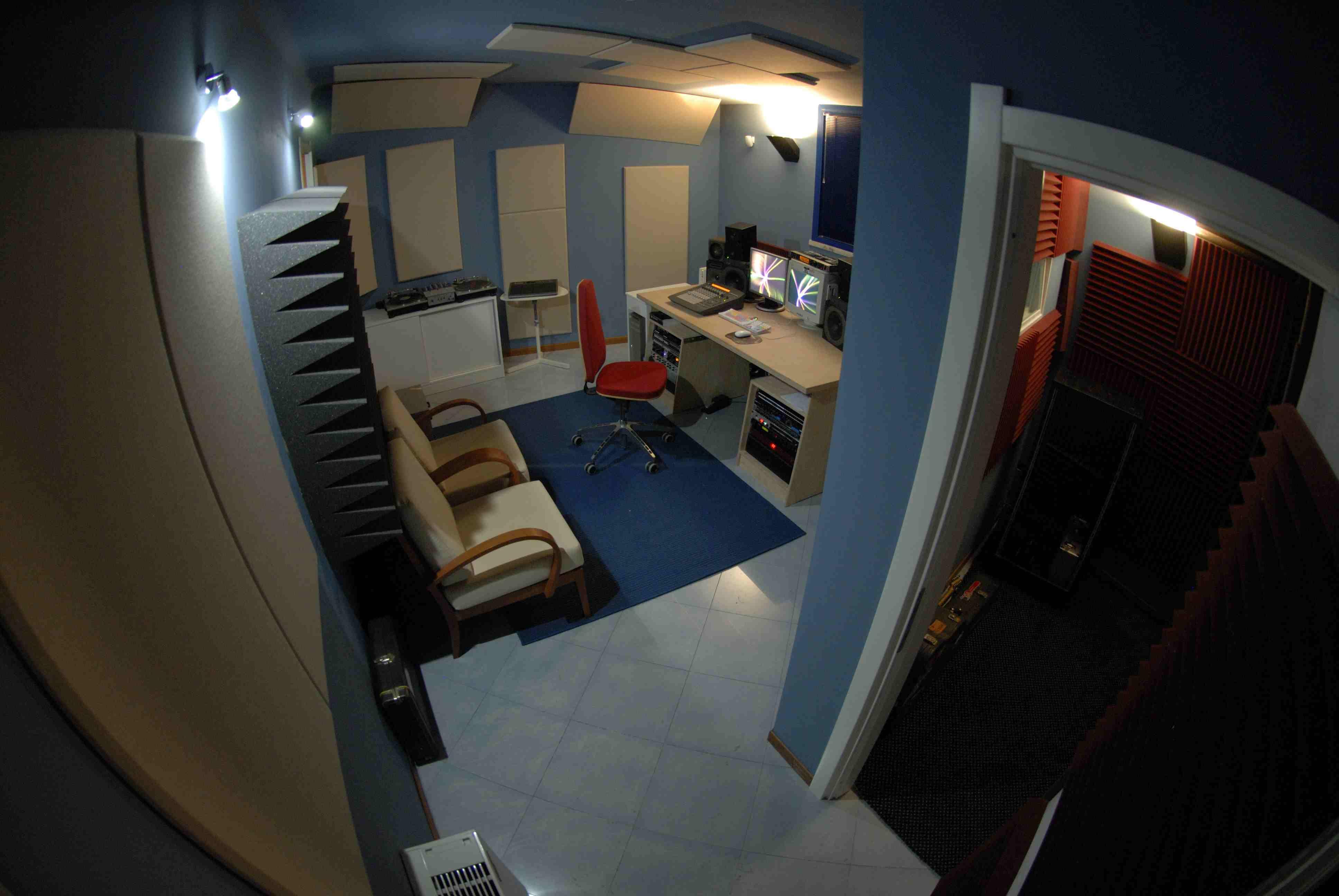 trattamento acustico control room sushistudio8