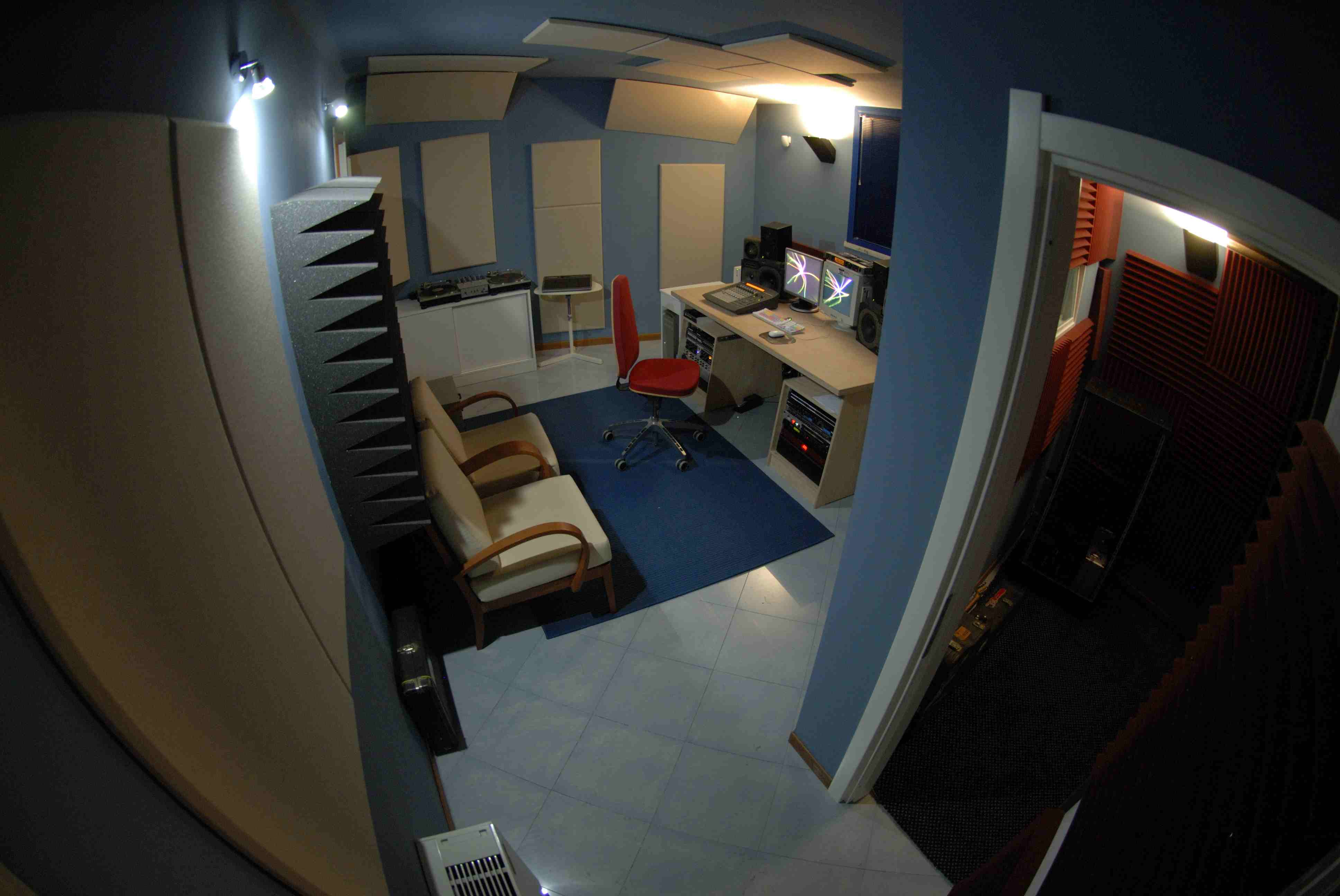 trattamento acustico control room sushistudio9