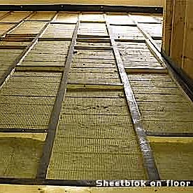 isolamento acustico pavimento flottante