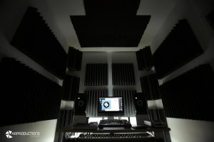 trattamento acustico control room AR production