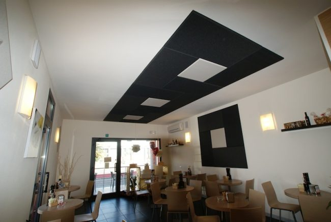 correzione acustica fonoassorbenti ristorante
