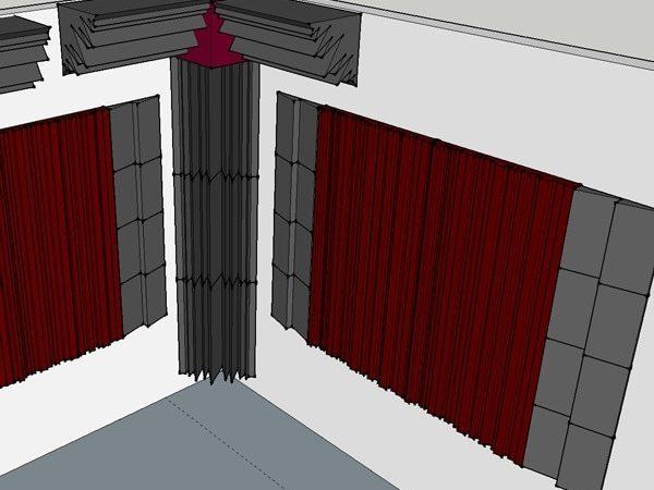Plot Studiofoam Metro 5 cm, Bass Traps LENRD, Studiofoam DST-112
