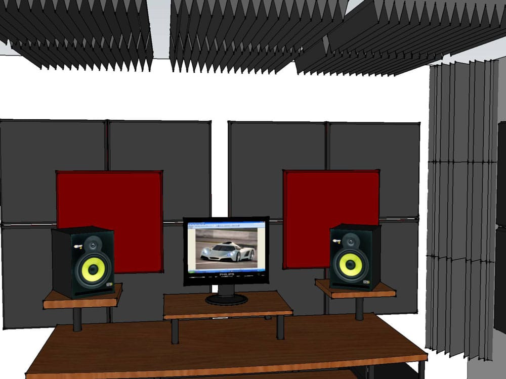 Esempio trattamento acustico control room