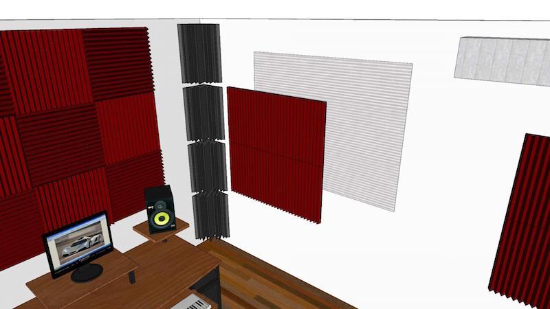 progetto trattamento acustico project studio roma 4
