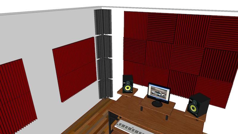 progetto trattamento acustico project studio roma