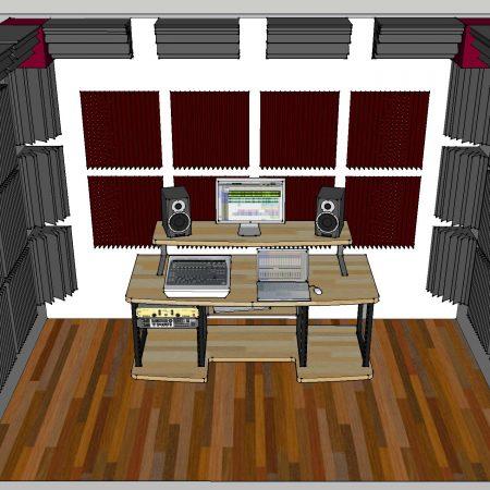 Trattamento acustico control room Tony Nandez