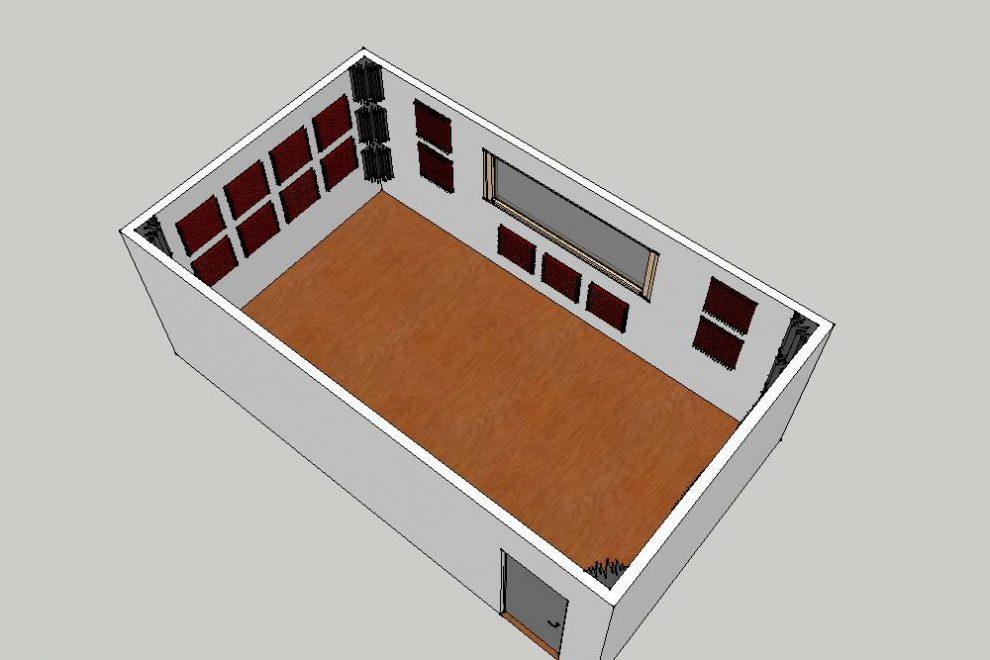 esempio di trattamento acustico con Kit Roominator Pro Plus™