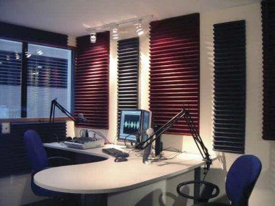 studiofoam trattamento acustico radio
