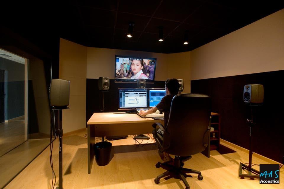 trattamento acustico sala doppiaggio