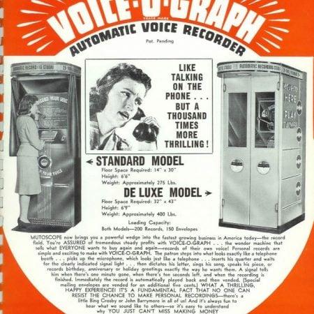 VOICE-O-GRAPH Un disco registrato e stampato su vinile istantaneamente !!!
