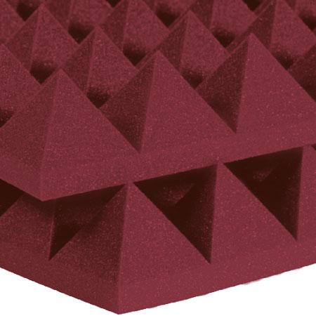 Studiofoam Pyramids 10cm Burgundy