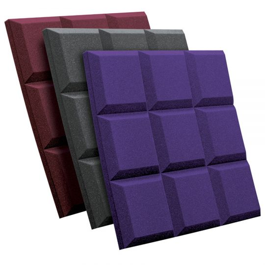 SonoFlat Grid burgundy (bordeaux) charcoal (grigio) purple (viola)