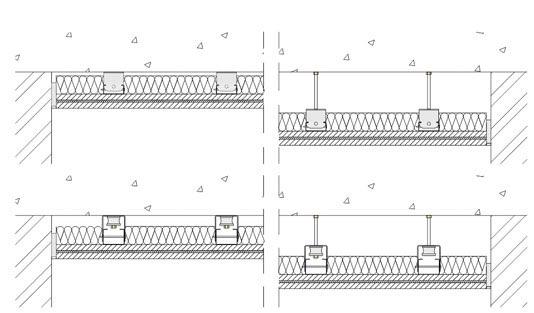 isolamento acustico soffitto con Sospensioni elastiche MF002