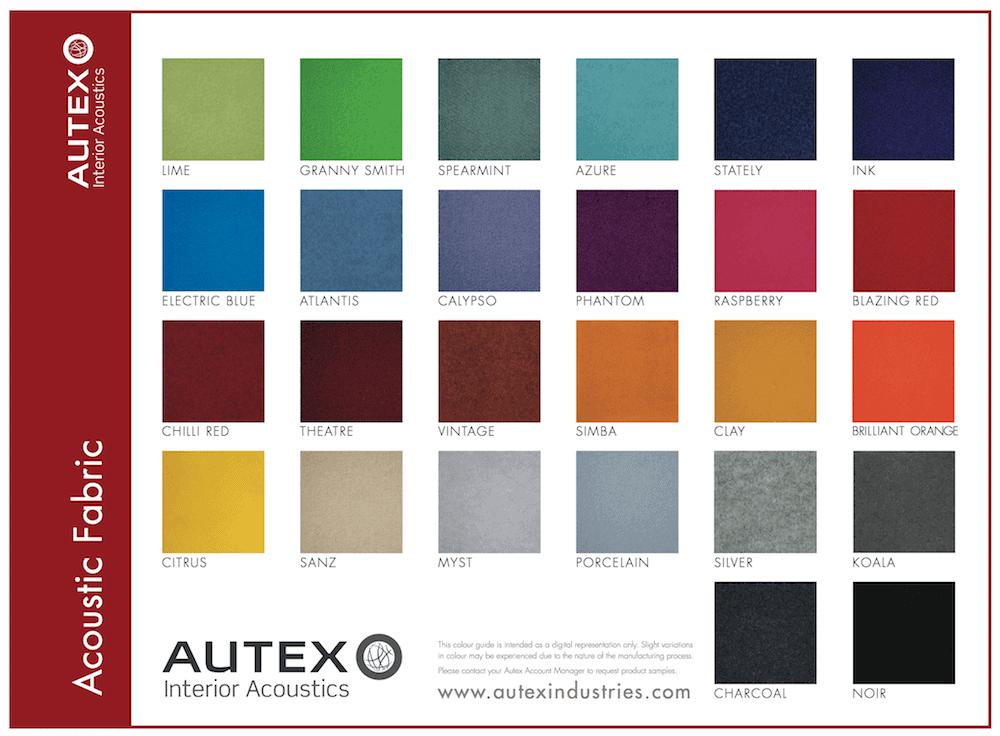 Colori stoffa Fonoassorbente AUTEX APA