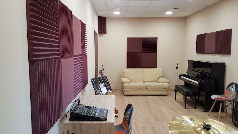 sala prove , trattamento acustico con Kit Roominator