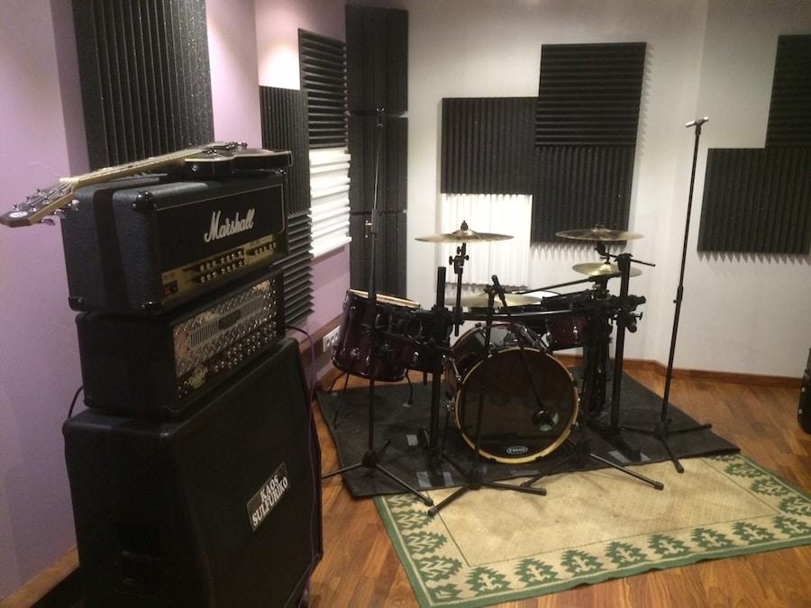 trattamento acustico project studio , recording room