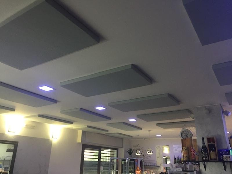 pannelli fonoassorbenti bar ristorante
