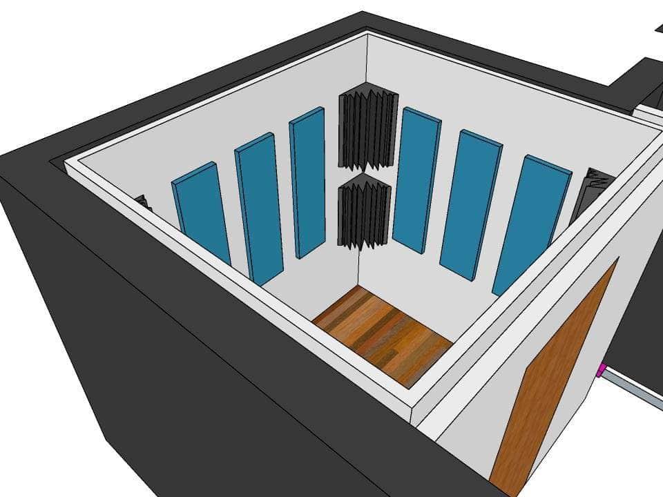 progetto trattamento acustico box insonorizzato