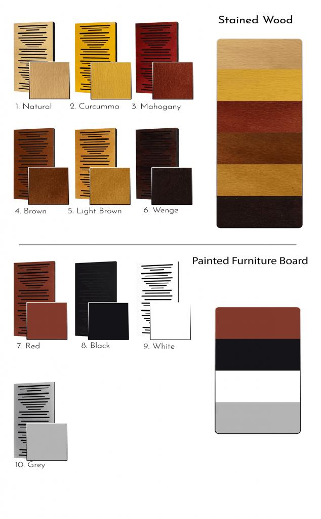 Colori pannelli Bar Code
