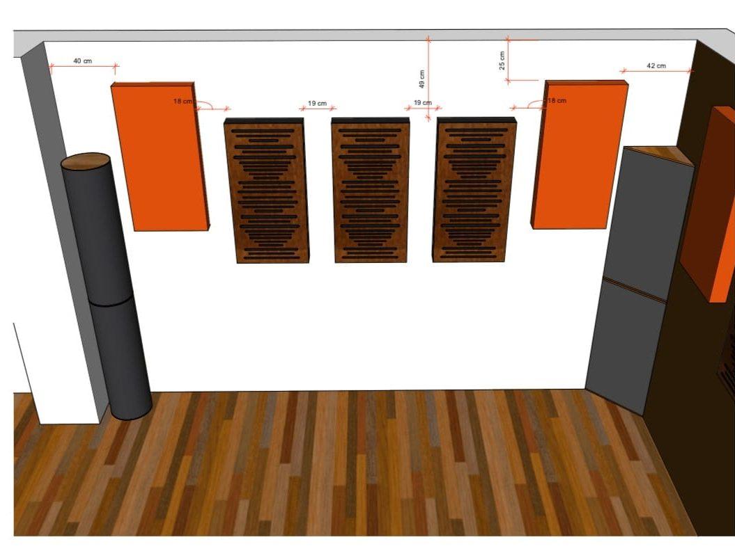 progetto trattamento acustico sala prove