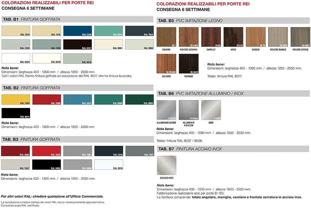 tabella colori porta 42db