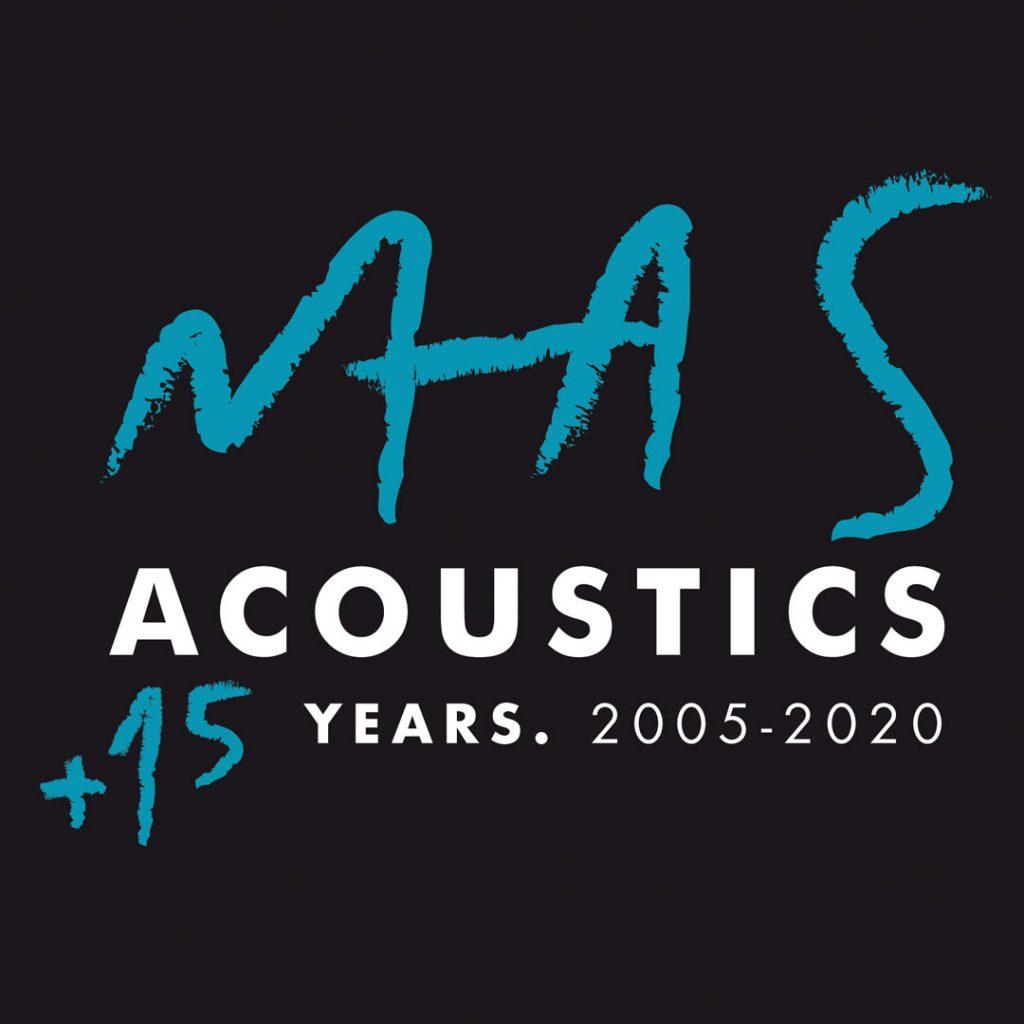 logo masacoustics 15 anni