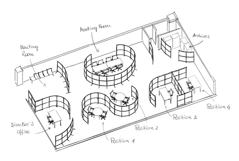 pannelli divisori caimi archimede